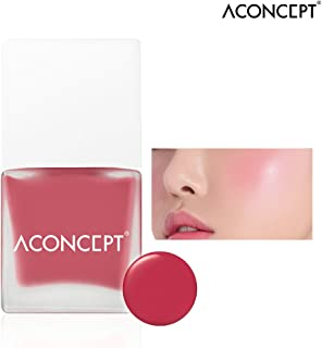 [ACONCEPT] Cheek Me 10g (#5 Miss me) - Watercolor Cheek Liquid Blusher, Easy to Blush Makeup, Not Sticky Fresh Oil Base Water Fit Texture, Natural Daily Color