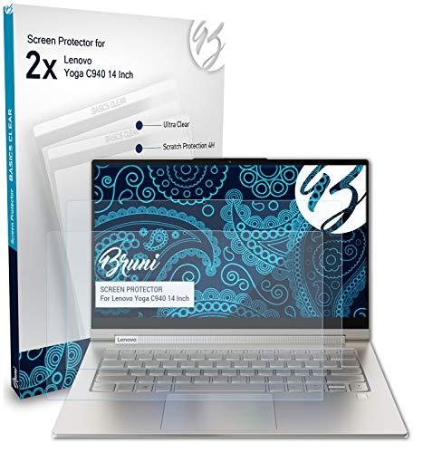 Bruni Schutzfolie kompatibel mit Lenovo Yoga C940 14 Inch Folie glasklare Displayschutzfolie 2X