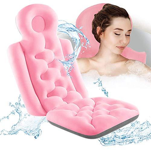 XWSM Almohada De Baño De Cuerpo Completo Almohada De SPA De Secado Grueso para Bañera Alfombrilla De Bañera con Almohada Capas De Malla 3D Transpirables para Mujeres Y Hombres