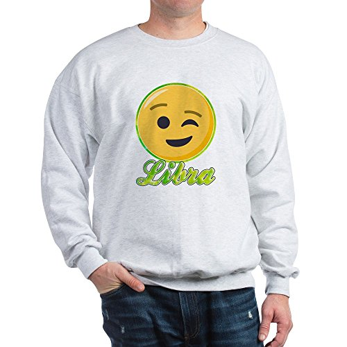 CafePress Emoji Waage Horoskop Classic Crew Neck Sweatshirt Gr. XL, aschgrau