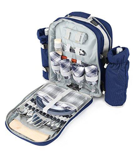 Greenfield Collection Edler Picknick-Rucksack für zwei Personen