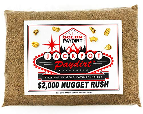 Jackpot '2K Nugget Rush' Gold Paydirt Panning Pay Dirt Bag – Gold Prospecting Concentrate
