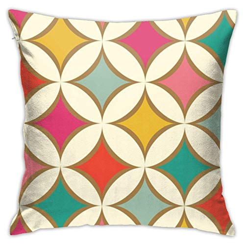 Funda de almohada, con diseño de joya de diamante, moderno, para sofá, cama, silla, coche, 45,7 x 45,7 cm