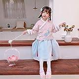 JJAIR Mädchen chinesischen Kostüm Hanfu, Baumwolle Wolken Koi Druck Hanfu Kleid Plus Baumwolle...