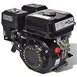 vidaXL 6.5馬力4.8千瓦汽油發動機黑色196cc置換汽油發動機