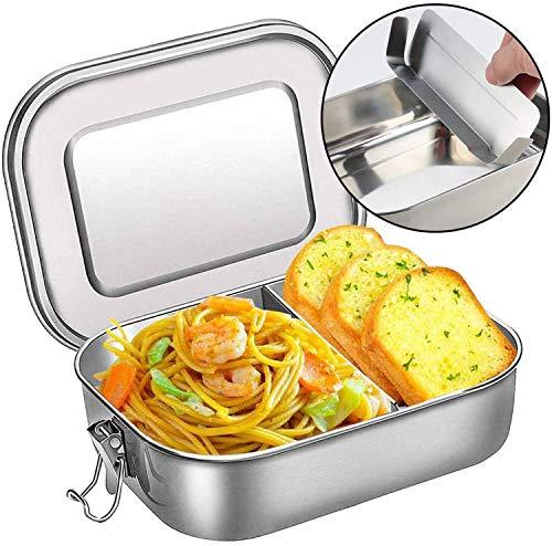 DeYoun Brotdose Edelstahl, Premium Lunchbox mit Flexibler Abtrennung | BPA- und Plastikfreie Bento Box für Kinder | Meal Prep Boxen ideal auch für Büro/Wandern/Reisen/Schule - 1400ml