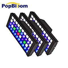 This aquarium Led Lighting System is special designed to imitation natural sun for LPS SPS reef coral and marine fish, please search DSunY on Youtube & Facebook to see how cool their light are -3 x full spectrum Panels + 1 smart controller ; Input Vo...
