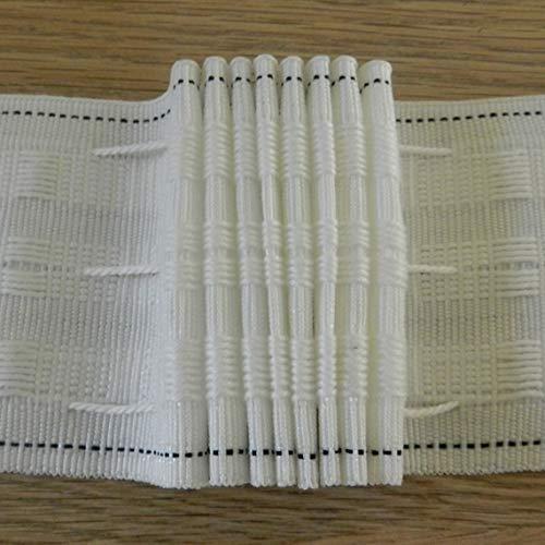 """75 mm (3"""") cinta plisada para cortina + ganchos para cortina + patrón de costura (10 m)"""