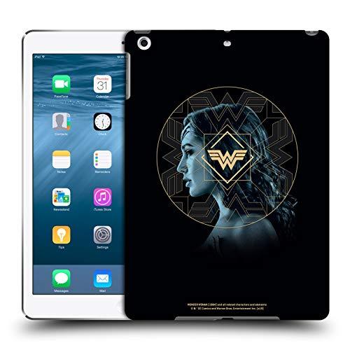 Official Wonder Woman 1984 Gold Portrait Logo Art Hard Back Case Compatible for Apple iPad Air (2013)