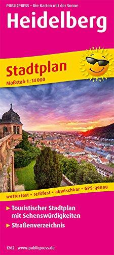 Heidelberg: Touristischer Stadtplan mit Sehenswürdigkeiten und Straßenverzeichnis. 1:14000 (Stadtplan: SP)