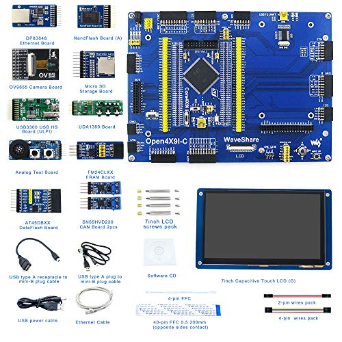 Designed for the STM32F429I, Open Source Electronic Hardware STM32 Development Kit, Features the STM32F429IGT6 MCU, Cortex-M4 32-bit RISC, Includes STM32F429IGT6 MCU Board, 429I Mother Board, etc.
