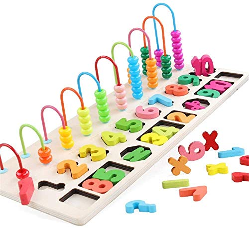 Ladan Wooden Classic Wooden Toy, Math Manipulatives Numbers Counting Beads Kid Activity Center, Parent-Child Interaction, Learning Abacus Toddlers Best Toy Gift