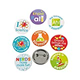 Fun Express Science Party Mini Buttons (48 Pack) Party and Classroom Supplies