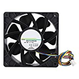 Soapow SHLF1212FHE-06 DC12V 1.5A 12CM 4Pin PWM Speed Temperature Control Cooling Fan Cooler
