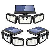Solar Security Lights 2Pack + 1Pack (Total in 3), ZEVEZ Solar Motion Sensor Lights Outdoor
