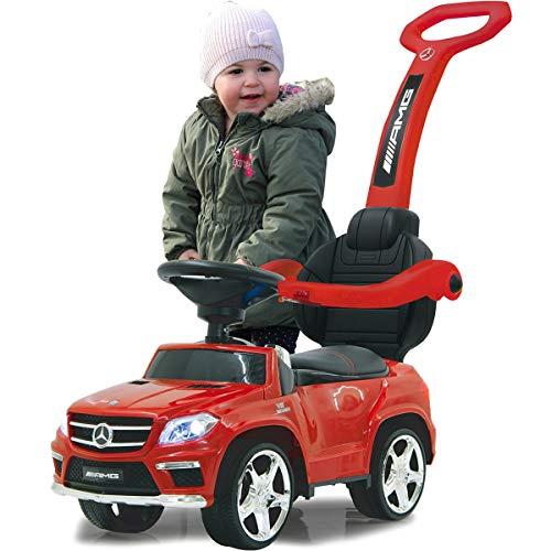 Stimo Mercedes Benz AMG Rutschauto (offiziell lizenziert) Kinder Fahrzeug Rutscher Auto (AMG GL63 ROT)