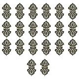 Fltaheroo 20 Piezas de Bisagras Decorativas Antiguas Bisagras de Caja de DiseeO de Grabado Hardware de Joyero para Cajas de Madera Vintage Bronce