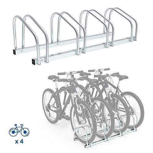 Todeco Support de Rangement Vélo, Râtelier Familial pour Vélo, Peut contenir 4 vélos, Dimensions: 99 x 32 x 26 cm, Type d'installation: Support mural