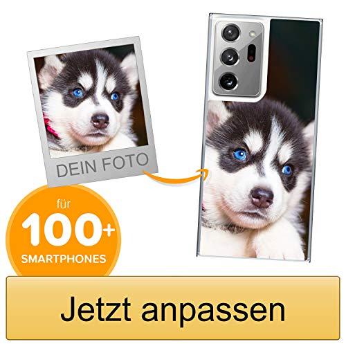 Coverpersonalizzate.it Handyhülle für Samsung Galaxy Note 20 Ultra 5G mit Foto-, Bildern- oder Text selbst gestalten- Die Handyhülle ist aus weichem transparentem TPU-Silikon-Gel Material