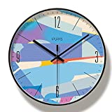 Relojes de pared Reloj de pared grande de diseño moderno silencioso creativo redondo, decoración de habitación, marco negro de moda silenciosa, reloj de pared grande de 35 cmsilencioso decorativo
