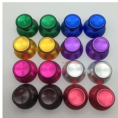 Preisvergleich Produktbild Laixing Qualität 2PCS Aluminum Metal Replacement Thumbsticks fur Microsoft Xbox 360 Controller