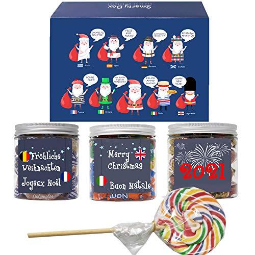 SMARTY BOX Caja Regalo Caramelos y Gominolas Navidad, Surtido Chuches,