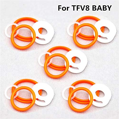 RUIYITECH Junta tórica de repuesto para SMOK TFV8 X-Baby/Vape Pen Plus/Vape Pen 22/TFV12 Prince/TFV8 Big Baby/TFV8/TopTank Mini (paquete de 5) (para tfv8 bebé)