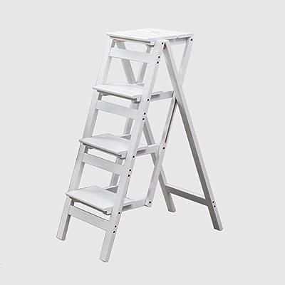 Taburete de escalera Taburete plegable de madera Escalera de escalera para adultos y niños Escaleras de