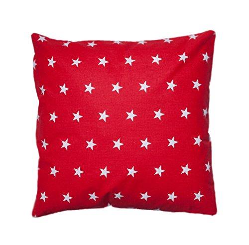 Amilian® Dekokissen Kissenbezug Kissen 40cm x 40cm Sternchen rot