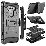 LG V20 Case, Zenic Shock Resistant Hybrid Tri-Layer Armor Defender Protector Case Cover with Belt Swivel Clip and Kickstand for LG V20 All Carriers (Black)