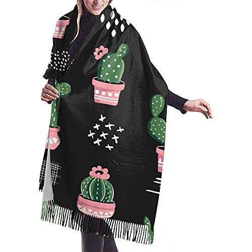 Cacti Repeating Cactus Nature sjaal wrap Warm Scarf Cape Large Scarf