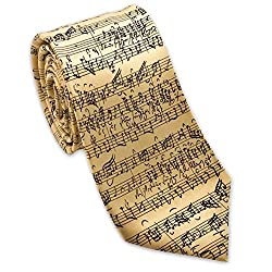 Music Print Tie - Best Gifts for Music Teachers