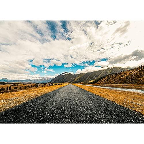 Fondo de fotografía de Retrato de Vinilo Fondo de fotografía de Tema de Paisaje de Carretera Accesorios de Fondo de Disparo de Estudio A40 9x6ft / 2,7x1,8 m
