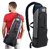 Imarana Yoga Mat Bag | Yoga Carrier Backpack with Versatile Storage Mesh and Zipper Pockets (Grey) by Imarana