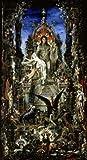 Posterazzi Jupiter et Semele (1826-1898/French) Musee Gustave Moreau Paris Poster Print, (24 x 36)