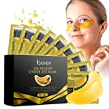 Under Eye Patches, SKINER 20 Pairs Gold Under Eye Mask for Anti-Aging, Collagen Eye Gel Pads for Reducing Puffy Eye, Dark Circles and Wrinkles, Eye Treatment Masks for Women and Men