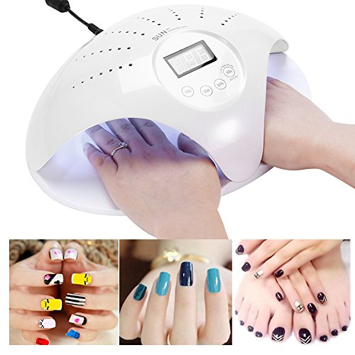 48W Nail Dryer, UV LED Nail Lamp with Smart Sensor for Gel Nails (White)