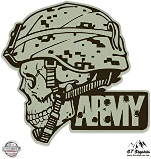 GT Graphics Army Helmet Skull Military - Vinyl Sticker Waterproof Decal