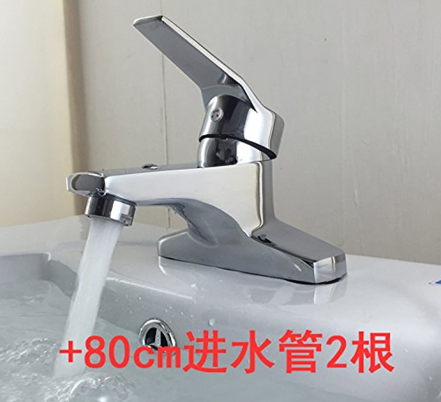 SunZIBasin faucet wash basin single double three cold washbasin Vintage ceramic basin faucet shipping,[thickening] IELTS two, 80cm inlet pipe 2
