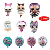 MIANRUII 10 Unids LOL Party's Helium Balloons for Children Birthday Doll Globos Decoraciones para Su...