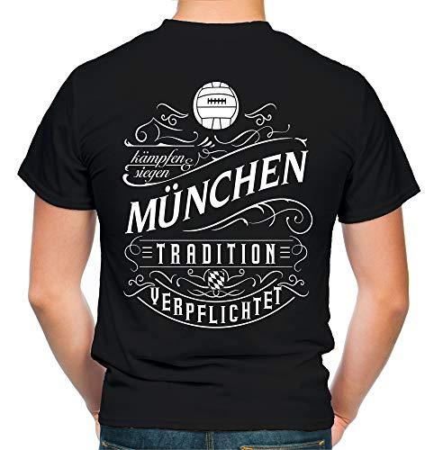 Mein Leben München T-shirt | Vrije tijd | Hobby | Sport | Spreuken | Voetbal | Stad | Mannen | Fan | M1 FB