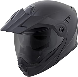ScorpionEXO Unisex-Adult Modular/Flip Up Adventure Touring Motorcycle Helmet (Matte Black, X-Large) (EXO-AT950 Solid)
