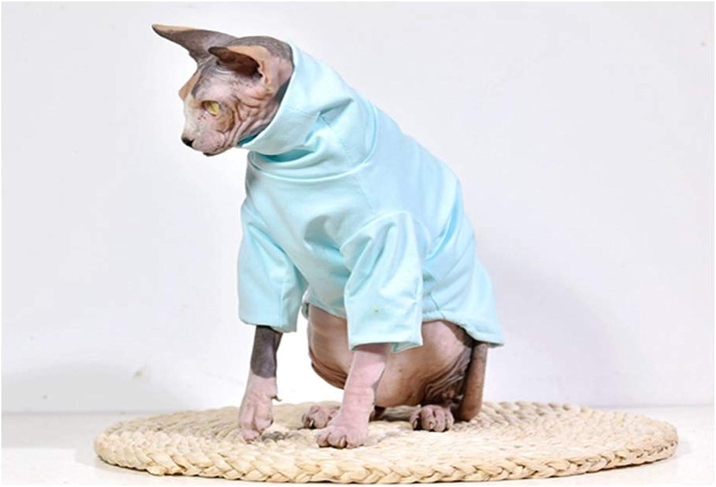 DENTRUN Hairless Cats Shirt Cat Wear Turtleneck Cat Designer Warm Clothes, Sweater Best for Hairless Cat's New PHijama Clothes Cat's Pajamas Jumpsuit Cat