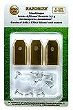 RAZORIZE®. 9x Cuchillas de repuesto de titanio (TiN) para robots cortacéspedes Gardena y...