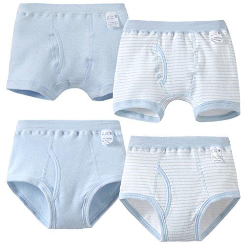 r.b.hickory Pack de 4 Niños Bóxers Ropa Interior Bebé Calzoncillos de algodón Bragas Tamano 3-4 Años