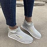 Zapatos Deportivas Mujer Zapatillas de Punto Calcetines sin Cordones para Mujer Calzado Casual,Gris,37