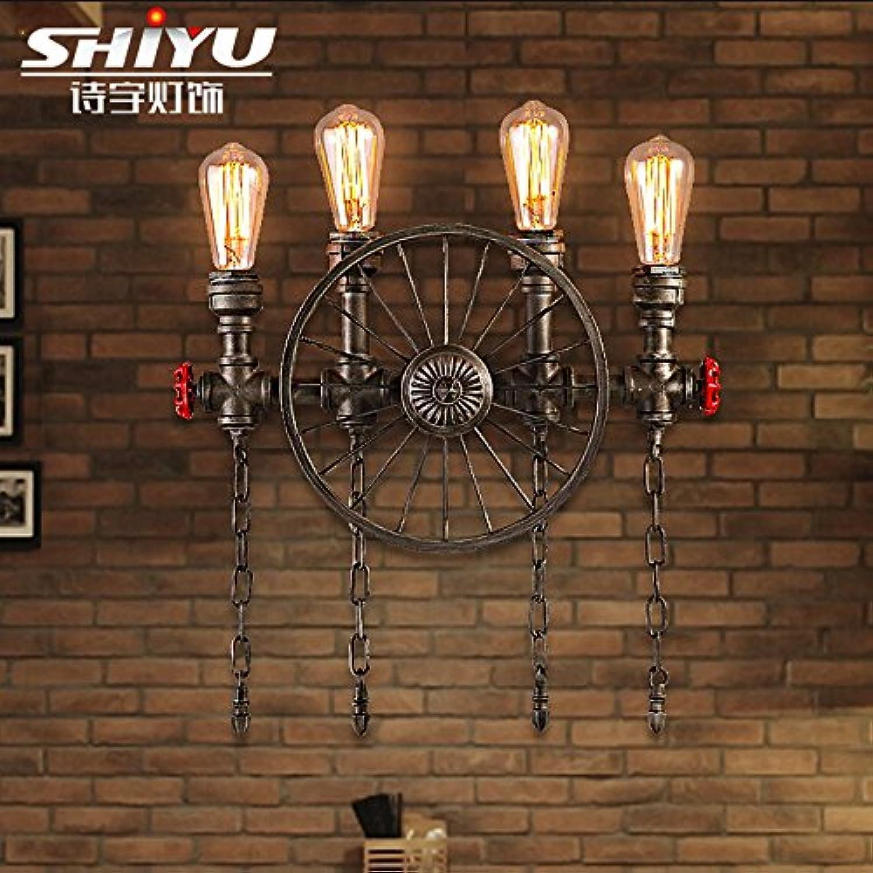 StiefelU LED Wandleuchte nach oben und unten Wandleuchten Antike Mauer industrial style Restaurant und Bar Bügeleisen rad Rohrwand, mit einer Lichtquelle und Erntevorsatz