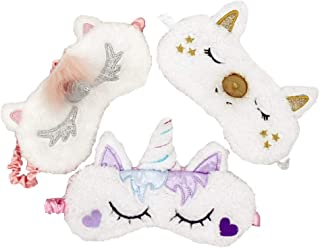 [3 PACK] MicroBird Unicorn Sleeping Mask Cute Unicorn, Blindfold Eyeshade for Kids and Women