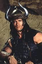 Arnold Schwarzenegger in Conan the Barbarian wearing horned helmet 24x36 Poster