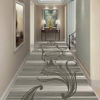 ラグ カーペット ラグハウスラバー担保非常に長い廊下ホールランナーラグカスタム長の長いランナーラグマット、2色の範囲を絞ります (Color : Dark gray, Size : 0.8x7m)